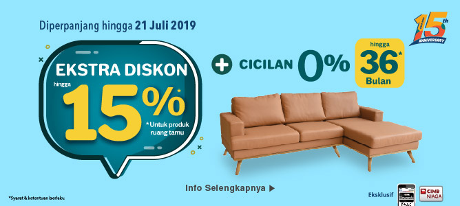 Extra Discount up to 15% for Living Room