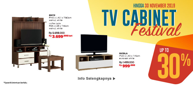 TV Cabinet Festival up to 30%