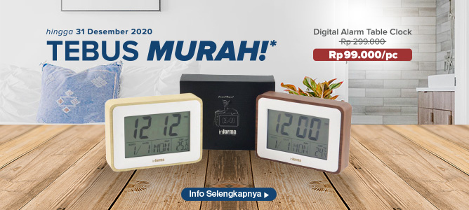 Tebus Murah Informa Digital Alarm Table Clock