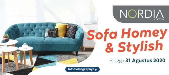 Promo Nordia: Sofa Homey dan Stylish