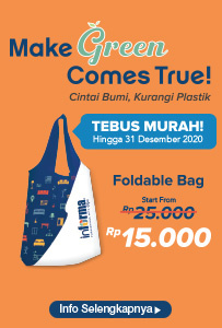 Tebus Murah Foldable Bag