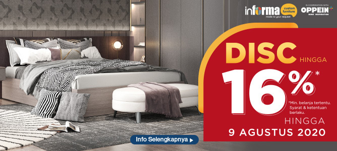 Informa Custome Furniture Diskon hingga 16%
