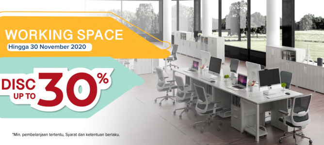 Working Space Promo hingga 30%