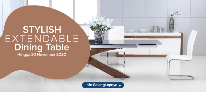 Stylish Extendable Dining Table
