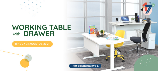 WORKING TABLE WITH DRAWER