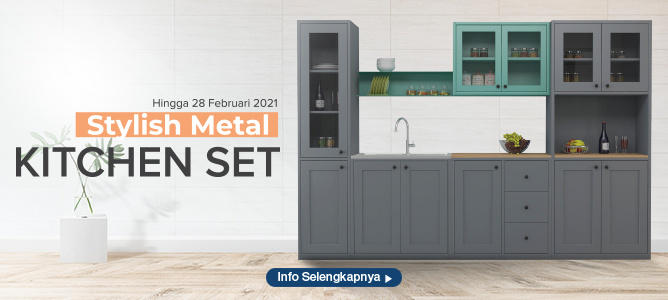 Stylish Metal Kitchen Set