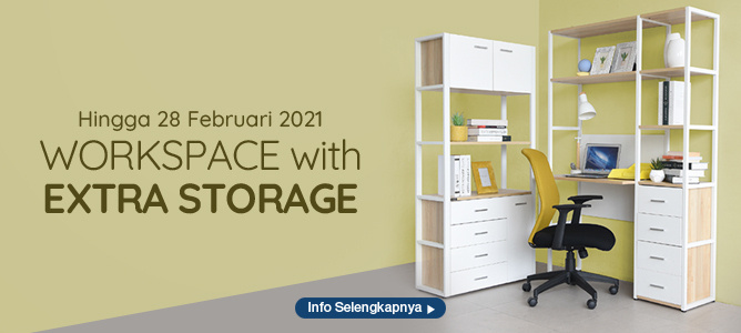 Workspace with Extra Storage