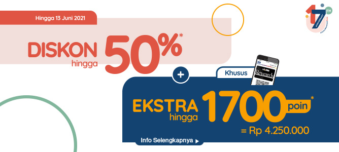 INFORMA 17TH ANNIVERSARY UP TO 50%* + EXTRA 1700* POINT